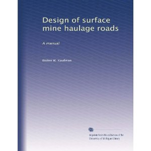 Surface Haul Road Design Specifications